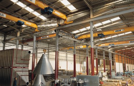 Cranes in Steel Fabrication18