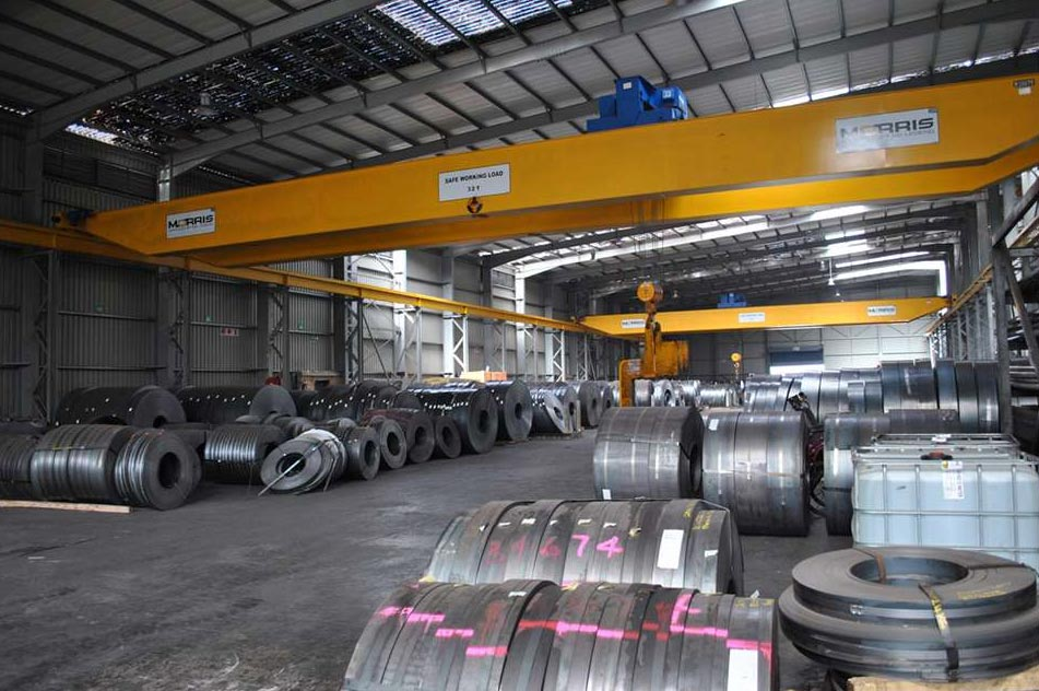 ABUS Overhead Cranes supplied and installed at Africa Steel and Tube in South Africa