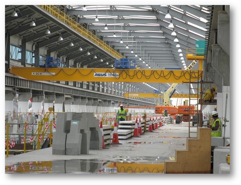 Abus cranes used in aluminium smelter